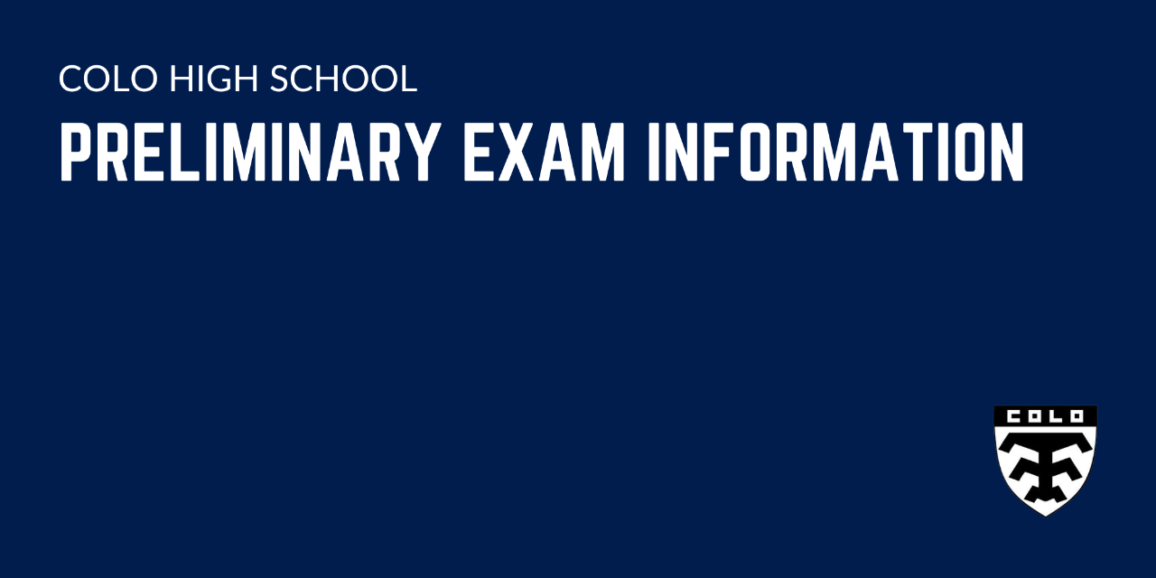 Preliminary Exam Information