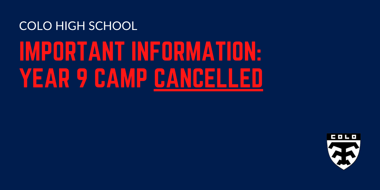 Yer 9 Camp Cancellation